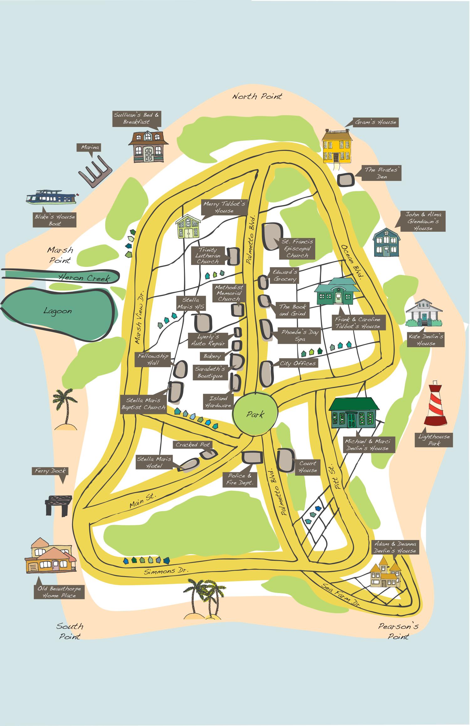 Stella Maris Map, Liz Talbot Mystery series